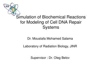 Simulation of Biochemical Reactions for Modeling of Cell DNA Repair Systems