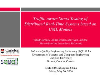 Traffic-aware Stress Testing of Distributed Real-Time Systems based on UML Models
