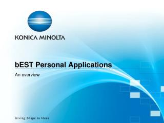 bEST Personal Applications