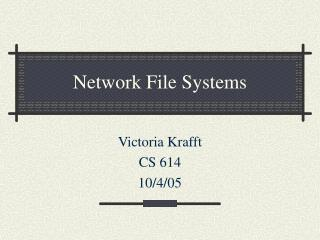 Network File Systems
