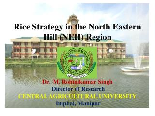 Rice Strategy in the North Eastern Hill (NEH) Region Dr.  M. Rohinikumar Singh