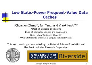 Low Static-Power Frequent-Value Data Caches