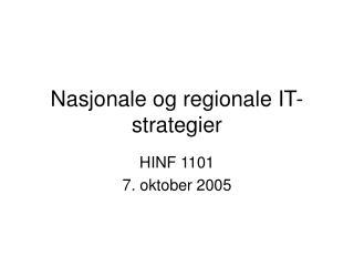 Nasjonale og regionale IT-strategier