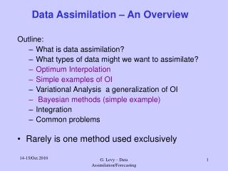 Data Assimilation – An Overview