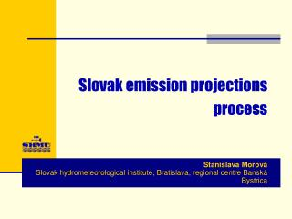 Slovak emission projections  process
