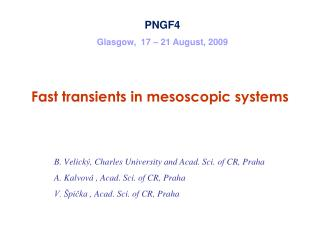 Fast transients in mesoscopic systems Molecular Bridge in Transient Regime