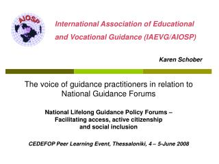 The voice of guidance practitioners in relation to National Guidance Forums