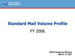 Standard Mail Volume Profile