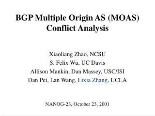 BGP Multiple Origin AS (MOAS) Conflict Analysis