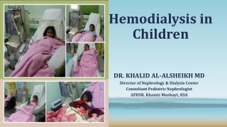 Hemodialysis in Children