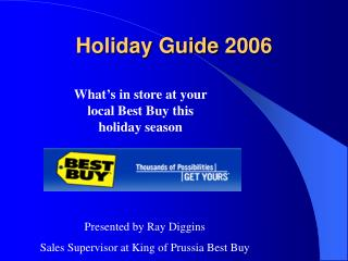 holiday camera guide 2006 by ray diggins (best buy) - powerpoint ...