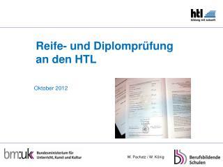 Reife- und Diplomprüfung an den HTL