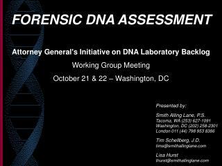 FORENSIC DNA ASSESSMENT