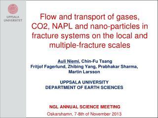 Auli Niemi , Chin-Fu Tsang  Fritjof Fagerlund, Zhibing Yang, Prabhakar Sharma,  Martin Larsson