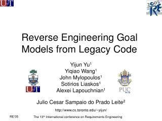 Reverse Engineering Goal Models from Legacy Code