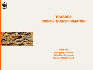 TOWARDS  CHINA'S TRANSFORMATION Rose Niu Managing Director US-China Program World  Wildlife Fund