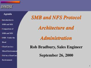 SMB and NFS Protocol Architecture and Administration