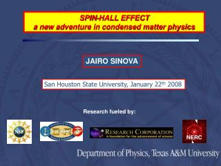 SPIN-HALL EFFECT  a new adventure in condensed matter physics
