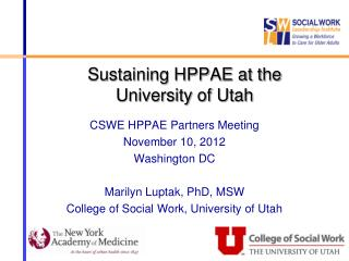 Sustaining HPPAE at the  University of Utah