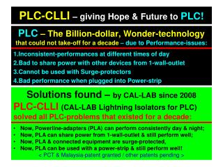 PLC-CLLI – giving Hope & Future to  PLC!