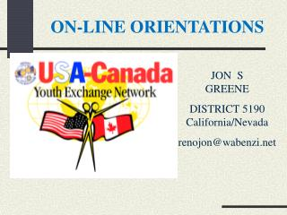 ON-LINE ORIENTATIONS