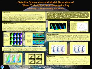 Satellite Observation and Model Simulation of  Water Turbidity in the Chesapeake Bay