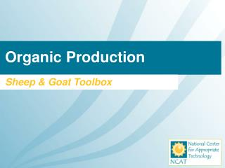 Organic Production