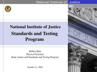 Standards and Testing Program