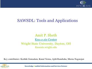 SAWSDL: Tools and Applications