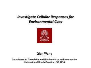 Investigate Cellular Responses for  Environmental Cues
