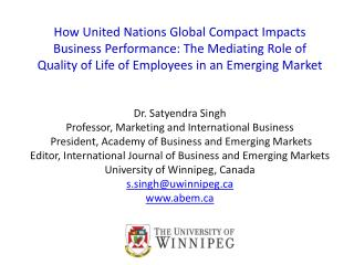How United Nations Global Compact Impacts Business Performance: The Mediating Role of