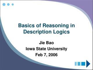 Basics of Reasoning in Description Logics