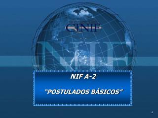 """NIF A-2 """"POSTULADOS BÁSICOS"""""""
