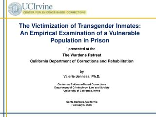 The Victimization of Transgender Inmates: