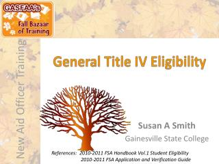 General Title IV Eligibility