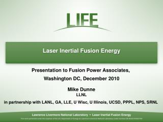 Laser Inertial Fusion Energy