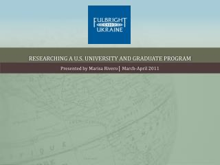 Researching a U.S. University And Graduate Program