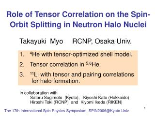 Role of Tensor Correlation on the Spin-Orbit Splitting in Neutron Halo Nuclei