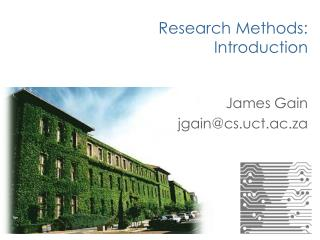 Research Methods: Introduction
