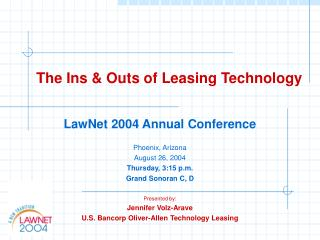 The Ins & Outs of Leasing Technology