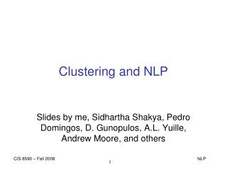 Clustering and NLP