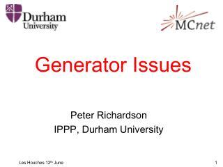 Generator Issues