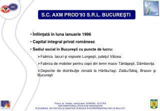S . C .  AXM PROD'93 S . R . L . BUCUREŞTI