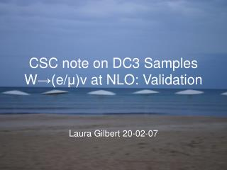 CSC note on DC3 Samples W →( e/ μ ) ν  at NLO: Validation