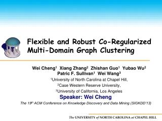 Flexible and Robust Co-Regularized Multi-Domain Graph Clustering