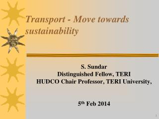 Transport - Move towards sustainability