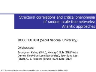 Structural correlations and critical phenomena of random scale-free networks: