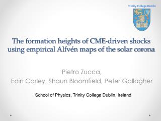 The formation heights of CME-driven shocks using empirical Alfvén maps of the solar corona