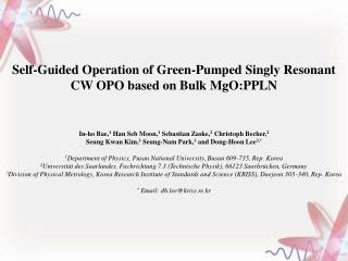 Self-Guided Operation of Green-Pumped Singly Resonant  CW OPO based on Bulk MgO:PPLN