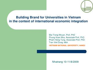 Building Brand for Universities in Vietnam  in the context of international economic integration